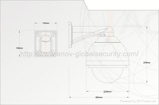 6'' 36X Intelligent Alarm High Speed Dome Camera(OSD+16 Alarm), PTZ Camera 2