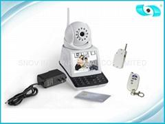 Wireless HD Video Call P2P IP Camera kit with Alarm sensors
