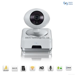 Snov Mega Pixel WIFI IP PTZ Surveillance Camera with Alarm Detectors, Wireless