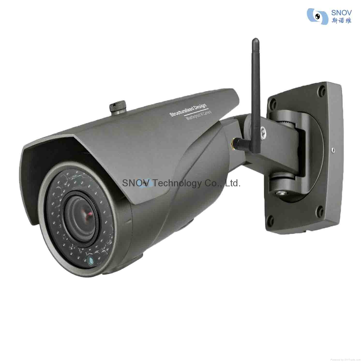 Outdoor IP IFI Camera on motion detector alarm sound