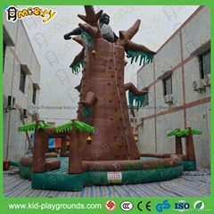 Factory price inflatable rock climbing wall, inflatable floating climbing wall