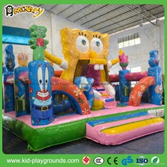 Gaint outdoor inflatable obstacle course equipment