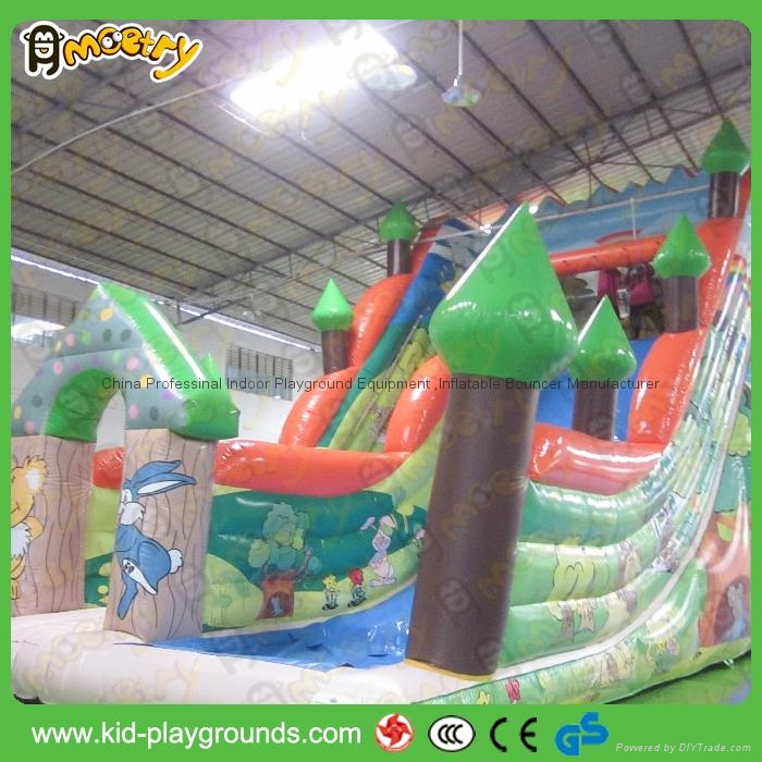 Colorful Arch Inflatable Dry Slide for sale 1