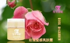 Rose Brightening Cream porcelain flu