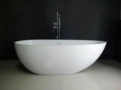 solid surface bathtub 1.7M