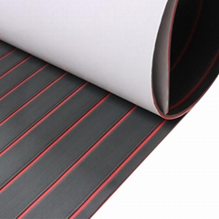 non-slip mat red/black straight strip 240*45