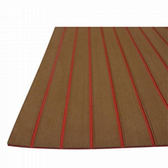 EVA Non-slip mat brown/red straight strip 240*120cm