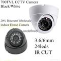 """700tvl 1/3"""" cmos with 24led IR 20m special offers IR CUT Dome cctv camera"""