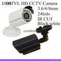 "1000tvl 1/3"" cmos with 24led IR 25 meter Waterproof  indoor/outdo cctv camera"