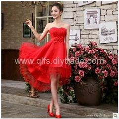 Free Shipping 2013 Autumn Winter Lace Mid-Calf Sleeveless Appliques Ladies' Dres