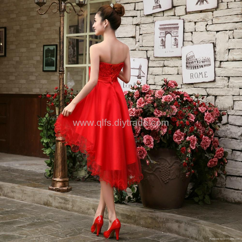 Free Shipping 2013 Autumn Winter Lace Mid-Calf Sleeveless Appliques Ladies' Dres 3