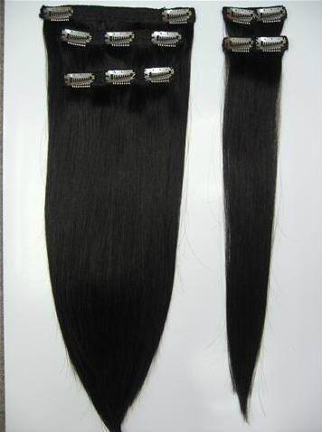 Top Grade Clip on Hair Extension Human hair extension 4