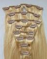 Top Grade Clip on Hair Extension Human hair extension 3