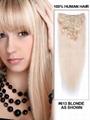 Top Grade Clip on Hair Extension Human hair extension 2