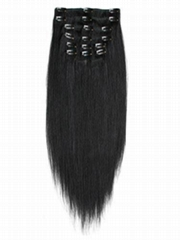 Top Grade Clip on Human hair Hair Extension