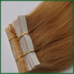 Human Hair Extensions Tape Hair PU weft