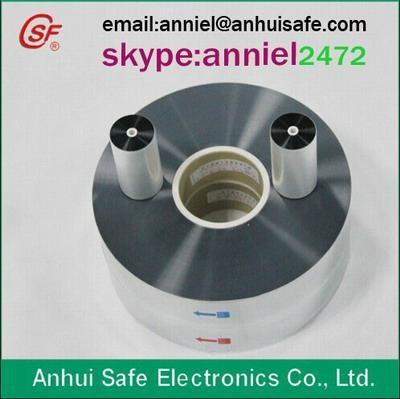 metalized BOPP PET film for capacitor used Aluminium Zinc 1