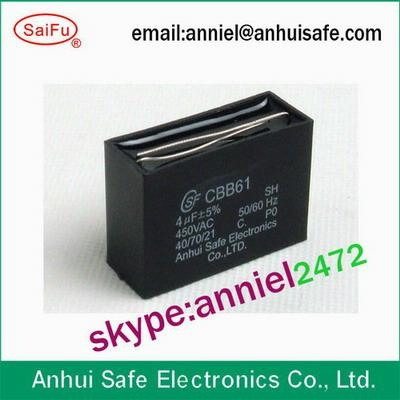 Plastic Polypropylene Film Capacitor Fan Capacitor 1uf To