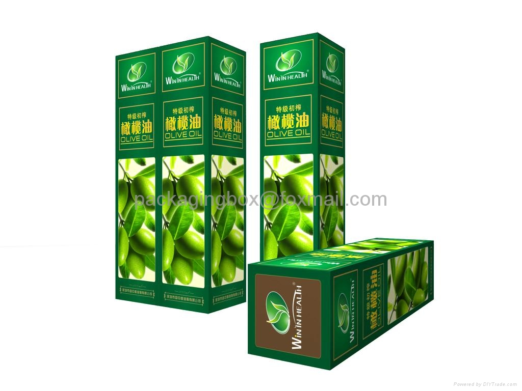 custom gift cardboard olive oil packaging boxes company in china 3