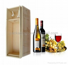 Cheap pine wooden wine b