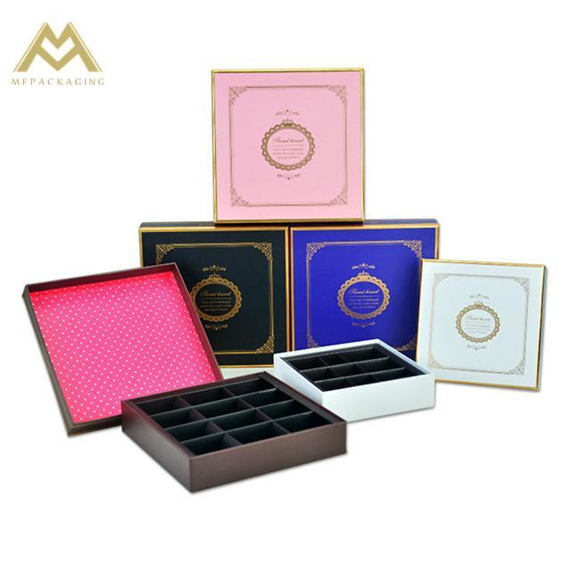 chocolate cardboard gift box China factory 4
