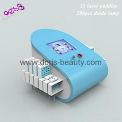 12 paddles Dual Wave Length diodes lipolaser slimming machine
