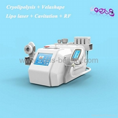 Cryolipolysis VelaShape Lipolaser Cavitation Five-polar RF beauty equipment