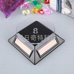 太陽能展示台 旋轉架 轉盤 禮品飾品架 光能圓盤