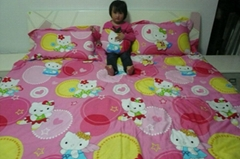 Bed covered 4 times