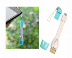 Multi function Keychain mobile phone strap Smartcable USB Charging Snyc Cable