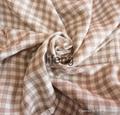 100% linen plaid/check fabric