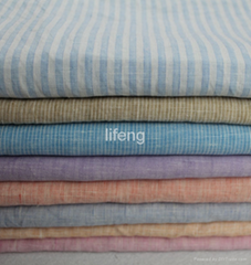 soft feeling washed yarn dyed linen fabric