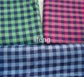 plaid woven check shirt linen fabric  1