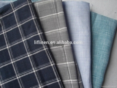 yarn dyed linen fabric for apparel