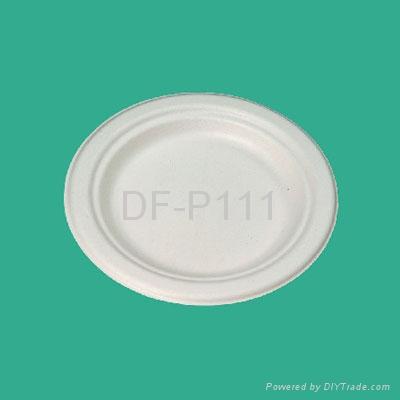 "6""  Bagasse Plate (wide edge) 1"