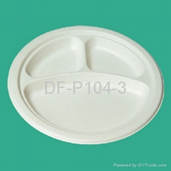 "9"" 3-Compartment Bagasse"