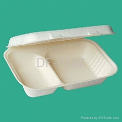 2-Compartment 34 oz Clamshell