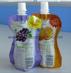 Plastic Juice Pouch with Spout