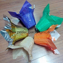 Plastic Flower Wrapping