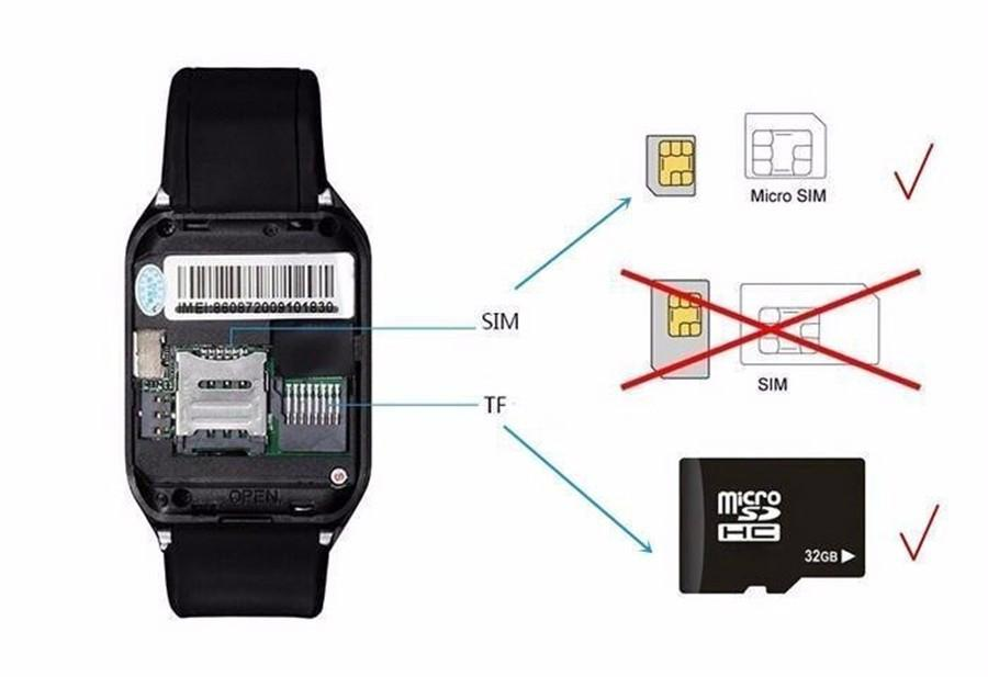 Bluetooth Smartwatch A1 Support SIM/TF Men Wristwatch Gt08 Dz09 5