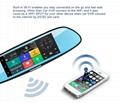 C08 7'' Touch Screen Dashcam Car Dual Rearview Camera Car DVR 3G Android GPS Das 2