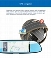 C08 7'' Touch Screen Dashcam Car Dual Rearview Camera Car DVR 3G Android GPS Das