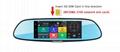 C08 7'' Touch Screen Dashcam Car Dual Rearview Camera Car DVR 3G Android GPS Das 4