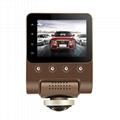 X360 Car DVR Dash Camera 1080P 360 Degree View Angle Dashcam Video Recorder Blac 2