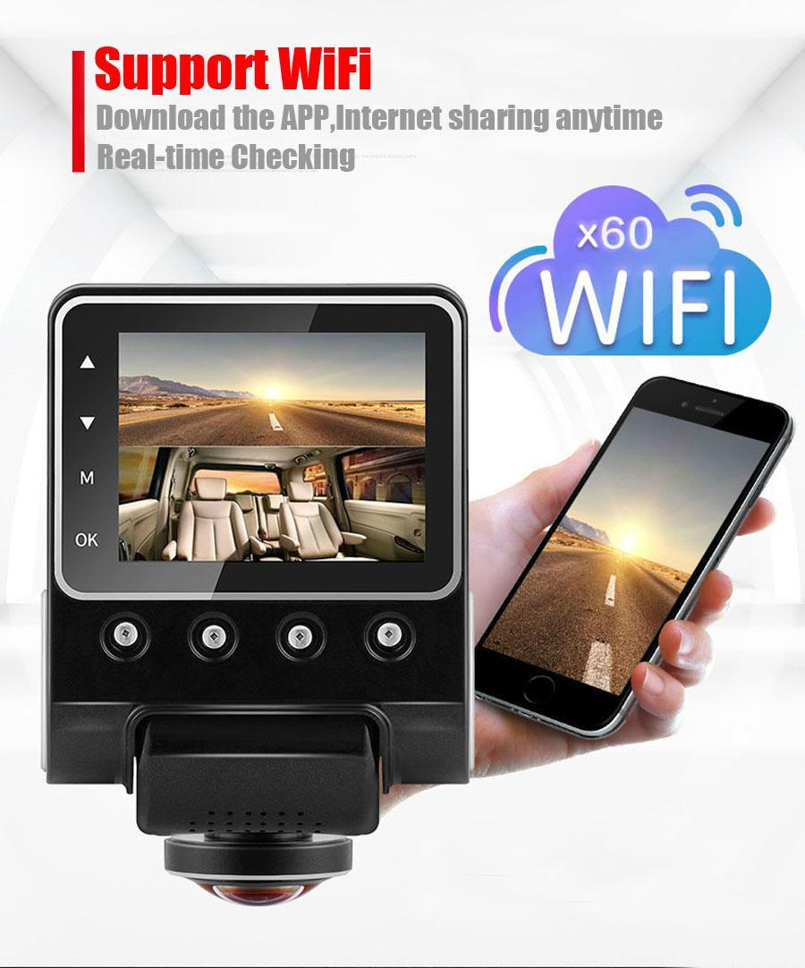 X360 Car DVR Dash Camera 1080P 360 Degree View Angle Dashcam Video Recorder Blac 3