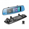 4G Car DVR Adas Remote Monitor Rear View Mirror with DVR and Camera Android Dual