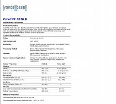 Purell PE 3020 D 医疗医用LDPE 环氧乙烷灭菌级 BASELL