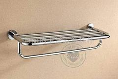 不鏽鋼鍍鉻雙層毛巾架