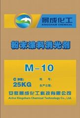 Powder coating flatting agent