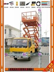 车载式液压升降机,杭州车载升降平台